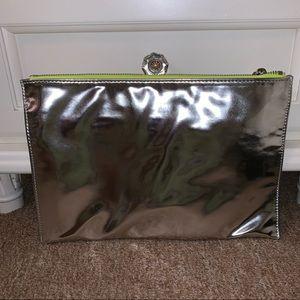 Deux Lux Bags - •Deux Lux• Silver Mirrored Clutch (NWOT)